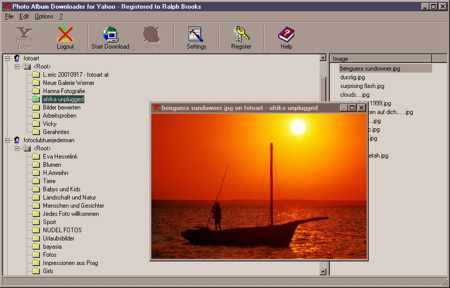 Photo Album Downloader for Yahoo
